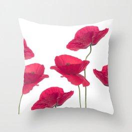 Sensual Poppies Throw Pillow