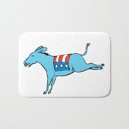 American Donkey Kicking Color Drawing Bath Mat