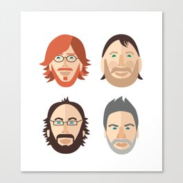 Trey, Fish, Mike, Page as Vector Characters Canvas Print
