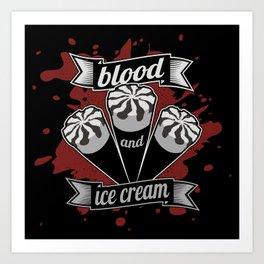Blood & Ice Cream - Silver Variant Art Print