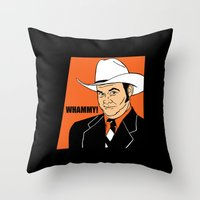 will ferrell Throw Pillows featuring Whammy! - Champ Kind by Buby87