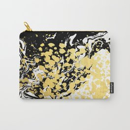 Sukie - abstract gold black and white foil glitter shiny sparkle hipster painting free spirit cosmic Carry-All Pouch
