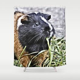 Painted Guinea Pig 3 Shower Curtain