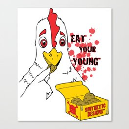 Eat Your Young: Chicken Canvas Print