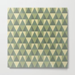 Modern geometric camouflage mosaic with triangles Metal Print