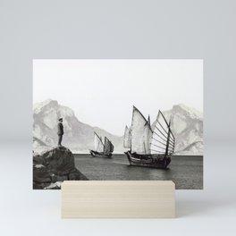 Visitors in the Bay Mini Art Print