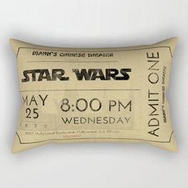 1977 Vintage Movie Ticket Rectangular Pillow