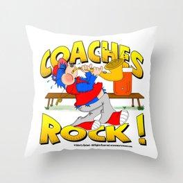 Coaches Rock Throw Pillow