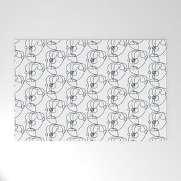 Abstract Faces Welcome Mat