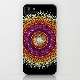 Rising Sun Mandala iPhone Case