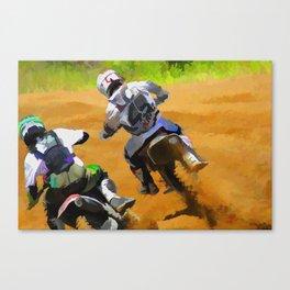 Motocross Dirt Racers Canvas Print