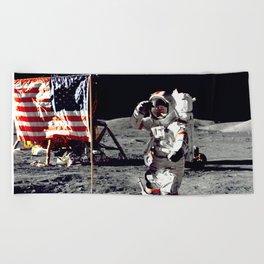 Salute on the Moon Beach Towel
