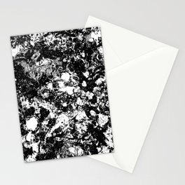 Bad Memories - black and white abstract painting Stationery Cards