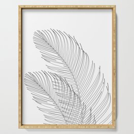 Palm Leaves Finesse Line Art #1 #minimal #decor #art #society6 Serving Tray