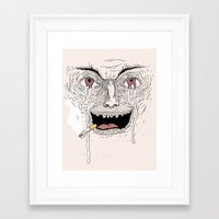 psycho Framed Art Prints featuring Psycho by Davies Babies