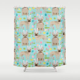 French Bulldog easter bunny spring dog breed pattern frenchies must have Shower Curtain