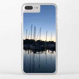 Reflection of sailboats | Severna Park, Maryland Clear iPhone Case