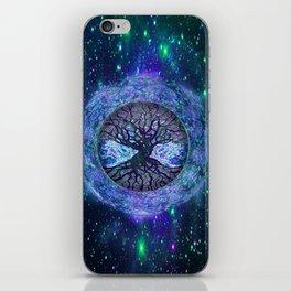 Earth Circle of Light iPhone Skin