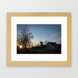 The sun setting on an era Framed Art Print