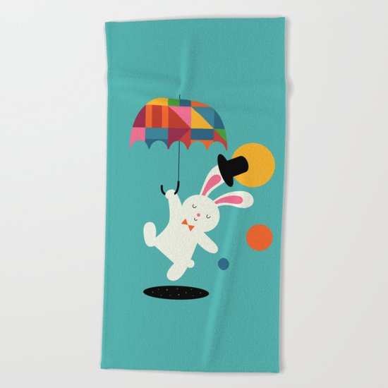 On the way to wonderland Beach Towel