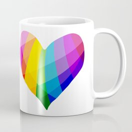 Rainbow Heart Coffee Mug