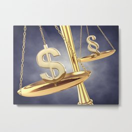 Corruption concept Metal Print