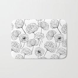 Poppy garden Bath Mat