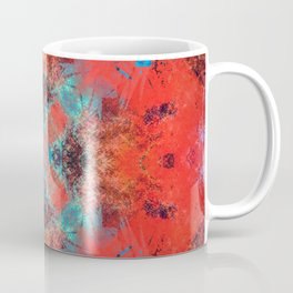 Southwestern Decor Turquoise and Orange Pattern Design Coffee Mug