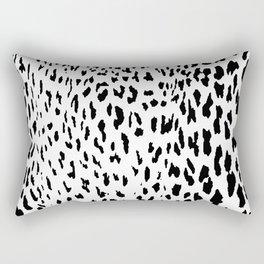 Cheetah II Black & White Animal Print Rectangular Pillow