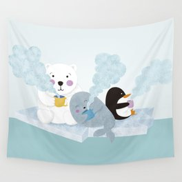 polar coffe Wall Tapestry