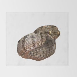 Ottoman Viper Snake Tasting The Air Throw Blanket