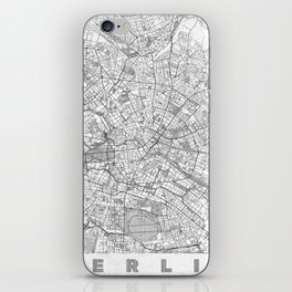 Berlin Map Line iPhone Skin