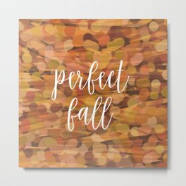 PERFECT FALL Metal Print