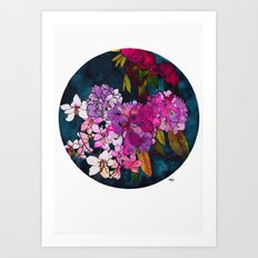 Purple Globes of Rhododendron  Art Print