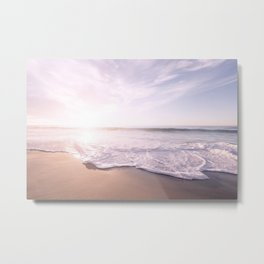Sea Pastel Beach Tropical Metal Print