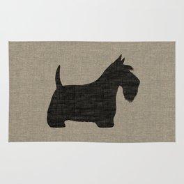 Scottish Terrier Scottie Silhouette Rug
