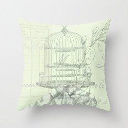 Correspondence  bird II Throw Pillow