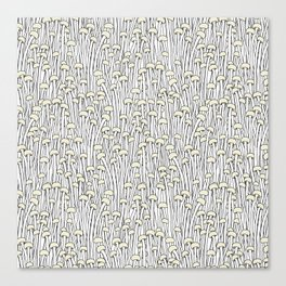 Enokitake Mushrooms (pattern) Canvas Print