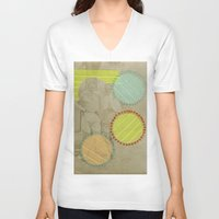 cocktail V-neck T-shirts featuring Fresh Cocktail by Naomi Vona
