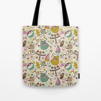 cupcakes Tote Bags featuring Cupcakes  by Anna Deegan