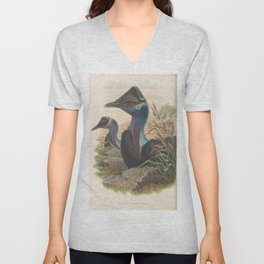 074 Painted throated Cassowary casuarius picticollis4 Unisex V-Neck