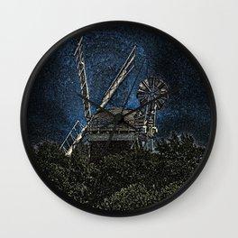 Horsey windmill Wall Clock