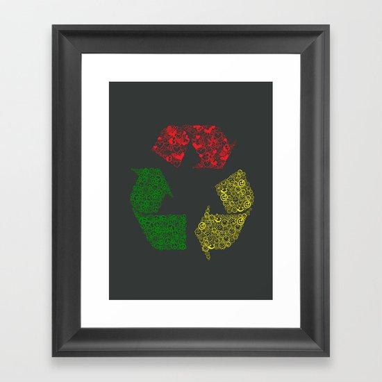 Peace, Love and Happiness Framed Art Print