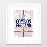 england Framed Art Prints featuring England by liamhohoho
