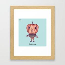 Pumpkin Witch Framed Art Print