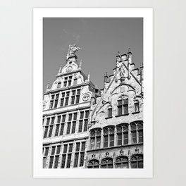 Antwerp in Black & White Art Print