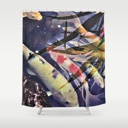 Meet the koi that weren't very coy Shower Curtain