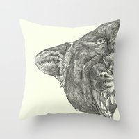 panther Throw Pillows featuring Panther by Breakell