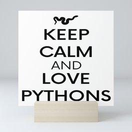 Python Reptile Snake Gift Pet Keep Calm Mini Art Print