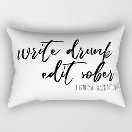 Write Drunk, Edit Sober Rectangular Pillow